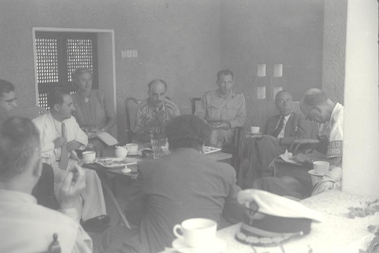 The First Bernadotte Plan - Photo of Meeting with Israeli Officials