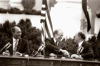 Israel-Egypt Peace Treaty - Photo of the signing