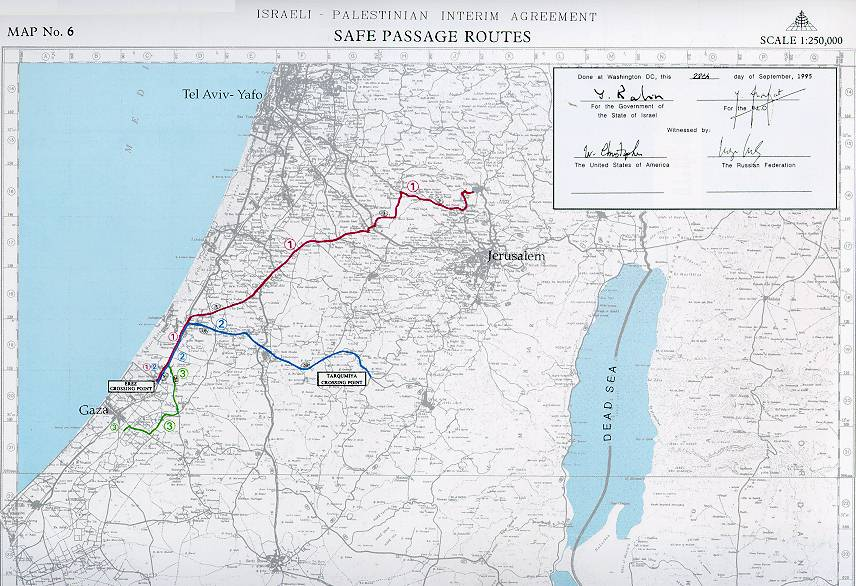 Cairo Agreement - on the Gaza Strip and the Jericho Area - Map No. 6 ...