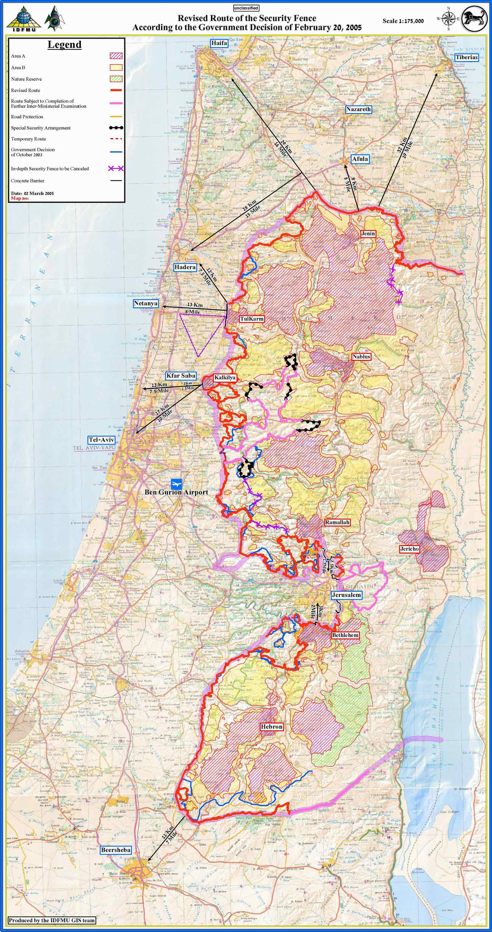Government of Israel Resolution 3283 on the Separation Barrier Map