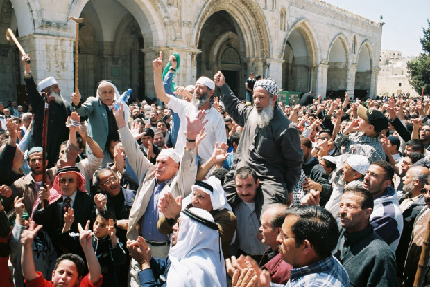 Second Intifada - Al-Aqsa Demonstration Photo (2000)