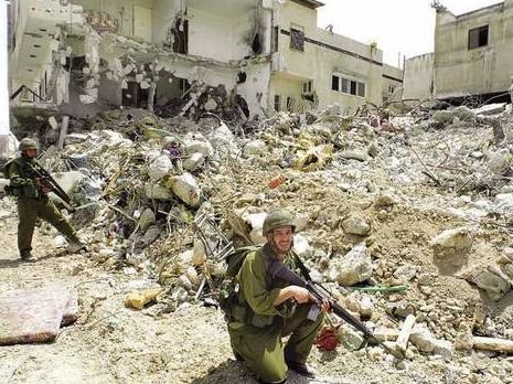 Second Intifada - Soldiers in Jenin Photo (2002)