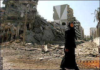 2006 Lebanon War - Destroyed Buildings in Beirut Photo