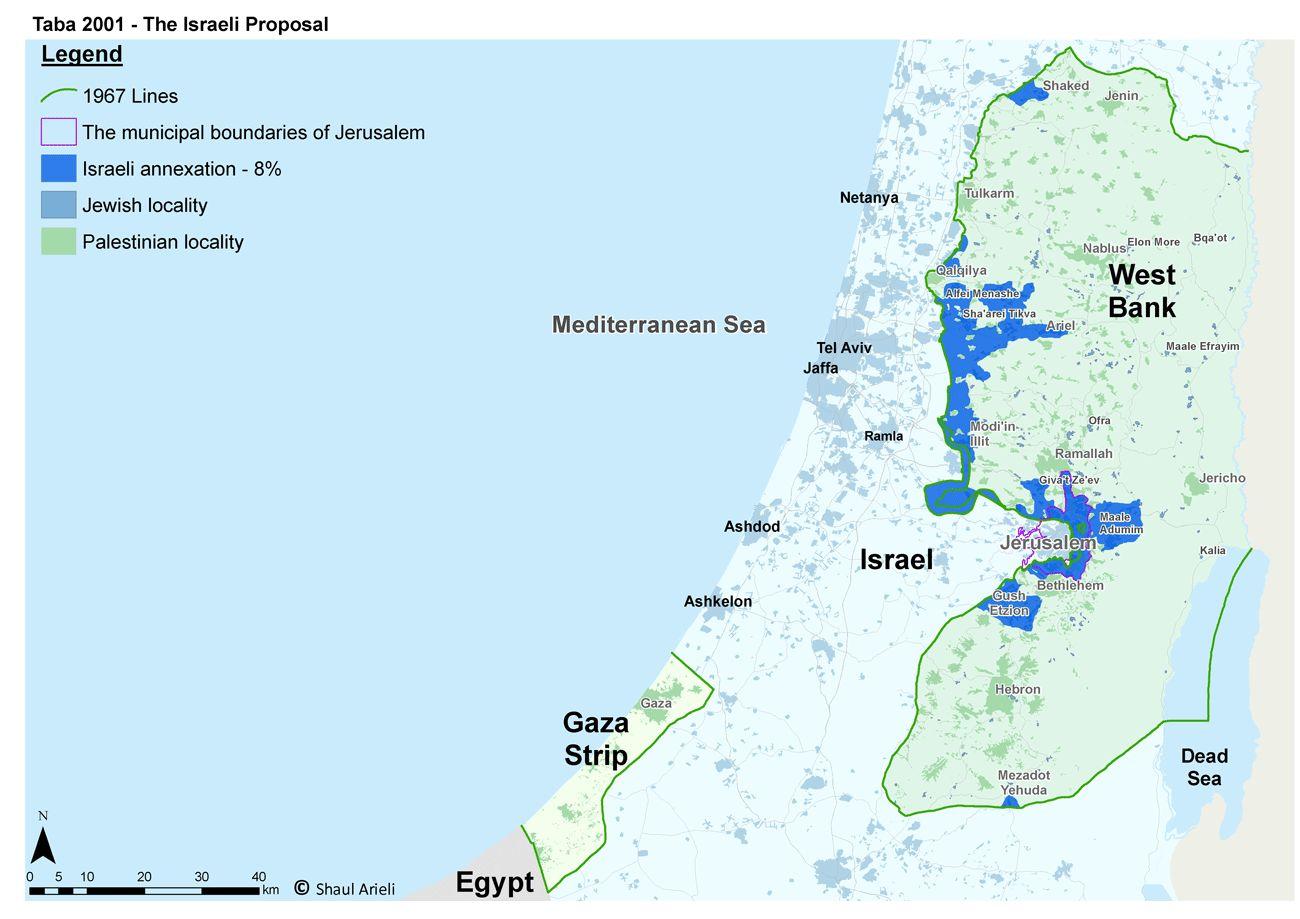 Taba Conference - Israeli Proposal (8%) - English (2001)