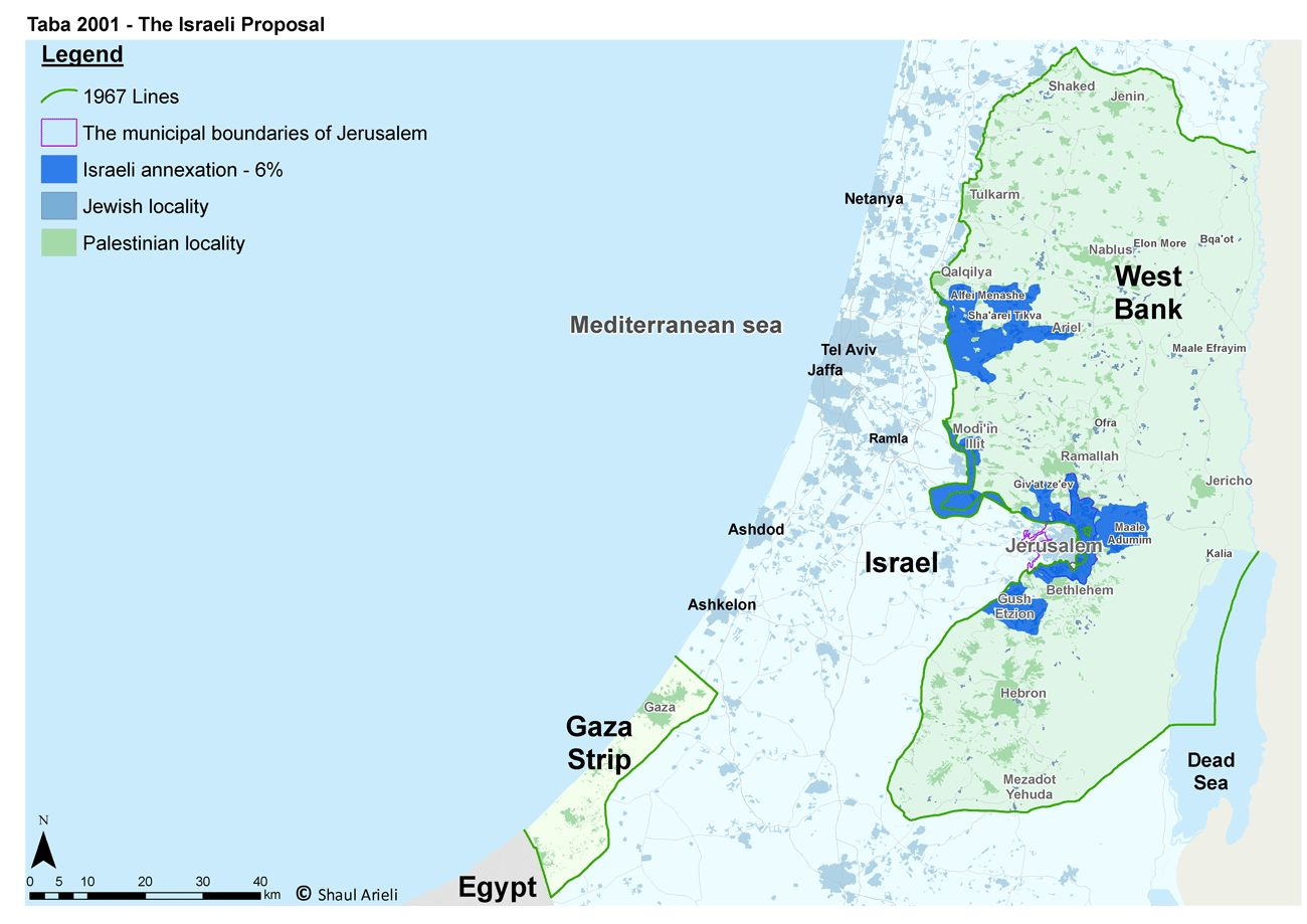 Taba Conference - Israeli Proposal (6%) - English (2001)
